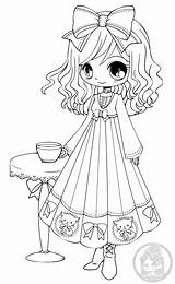 Coloring Yampuff Pages Annabelle Chibi Deviantart Colouring Anime Lineart Adult Chibis Books Stamps Eyes Cafe Visitor Gothic Digi Printable Princess sketch template