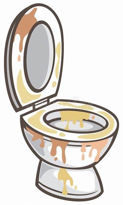 Toilet Dirty Bowl Vector Flush Illustration