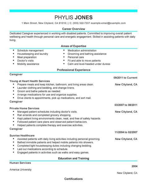 Resume For Caregiver by Eye Grabbing Caregiver Resumes Sles Livecareer