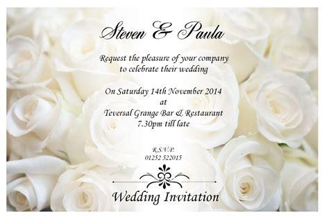 sample wedding invitation card electronic wedding