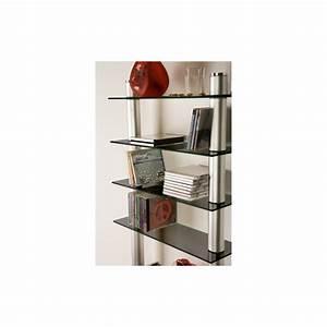 étagère En Verre Ikea : etag re murale design en verre noir et aluminium ~ Teatrodelosmanantiales.com Idées de Décoration