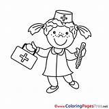 Nurse Colouring Coloring Sheet Pages Title sketch template