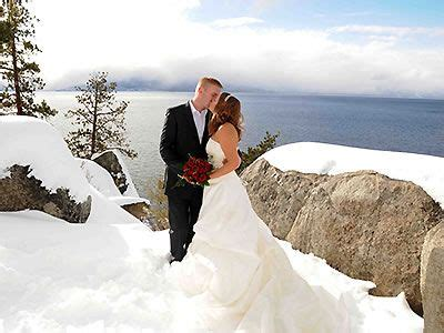 snowy winter wedding  lake tahoe ca winter wedding