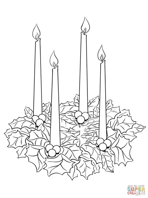 Advent Wreath Coloring Page Free Printable Coloring Pages