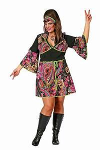 Groe Gren Hippie Lady Damenkostm XXL 70er Jahre Flower