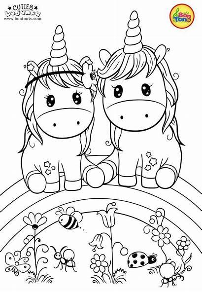 Pages Unicorn Coloring Bojanke Cuties Animal Tv