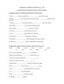 Simple Present Tense Exercises Worksheet