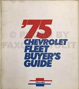 1975 Chevrolet Repair Shop Manual Reprint Set 75