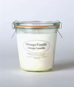 Kerzen Im Weckglas : rapswachskerze im weckglas orange vanille online kaufen nawemo ~ Frokenaadalensverden.com Haus und Dekorationen
