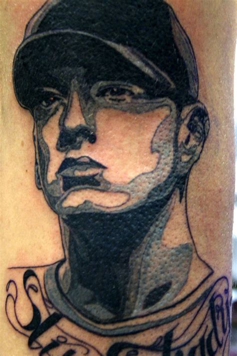 amazing eminem inspired tattoo  boogywoogy