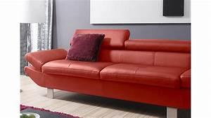 Sofa Mit Relaxfunktion : 3er sofa carrier polsterm bel mit relaxfunktion rot 223 cm ~ Buech-reservation.com Haus und Dekorationen