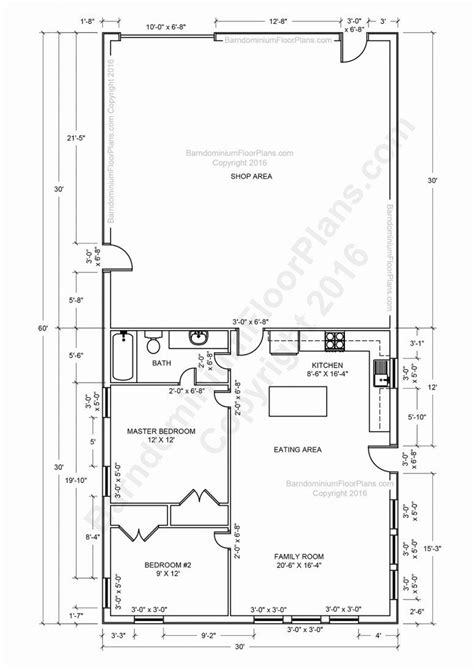 pole barn with living quarters floor plans unconventional