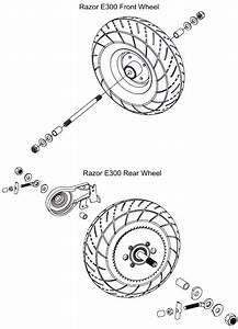 Razor E300 Rear Wheel Assembly Help   Electricscooterparts