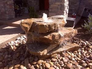 Backyard, Rock, Water, Fountains