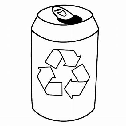 Earth Tin Coloring Pages Drink Recycling Recycle