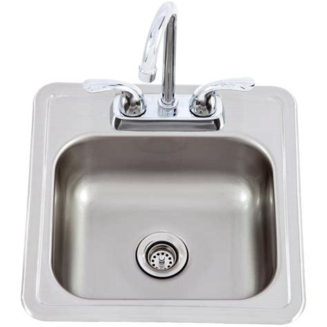 kitchen sink and faucet 15 x 15 outdoor stainless steel sink with