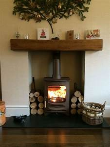 Oak, Fireplace, Living, Room, With, Fireplace, Home