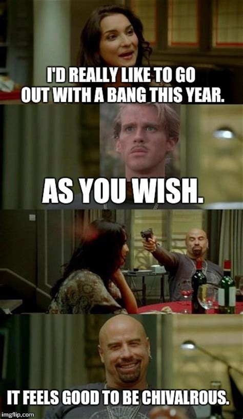 You Wish Meme - skinhead john travolta meme imgflip