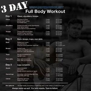 3 Day Full Body Workout Plan - All Muscle Training Best Results - Project Next