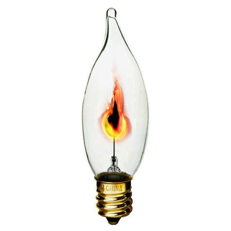 flickering light bulb 3 watt clear flicker bulb bulbrite 410313