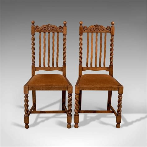 antique oak dining chairs for antique pair of chairs oak dining side 9030