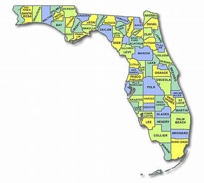 County Florida Map Shelters Lost Dogs Borders