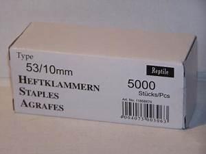 Klammern Typ 53 : tackerklammern typ 53 530 10mm 5000 st ck von reptile rapid kaufen bei svm verpackung u montage ~ Frokenaadalensverden.com Haus und Dekorationen