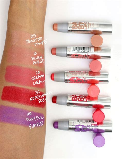 baby skin color maybelline baby color balm crayon swatches cake