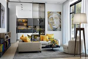 25 gorgeous yellow accent living rooms for Accent decor for living room