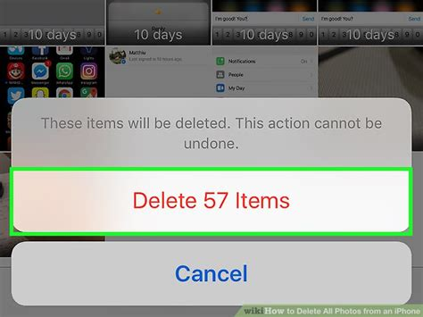 delete iphone photos how to delete all photos from an iphone with pictures