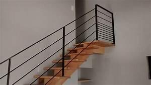 Rampe Pour Escalier : garde corps acier lyon garde corps villefranche calade design ~ Melissatoandfro.com Idées de Décoration