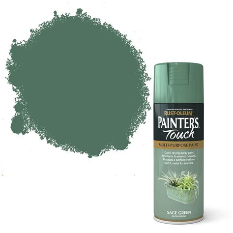 sage touch paint spray rust oleum gloss diy