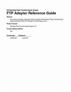 Hp Nonstop Data Transformation Engine Ftp Adapter Manuals