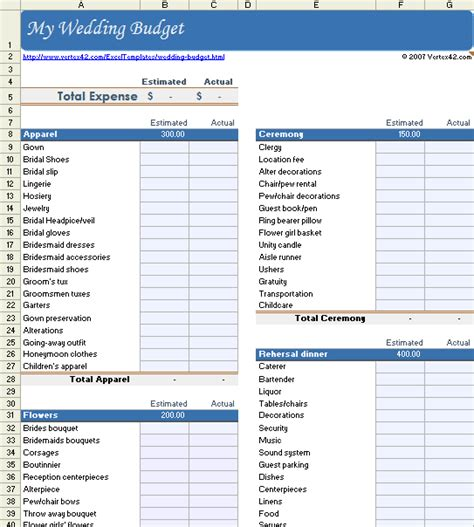 wedding budget template excel free wedding budget worksheet printable and easy to use