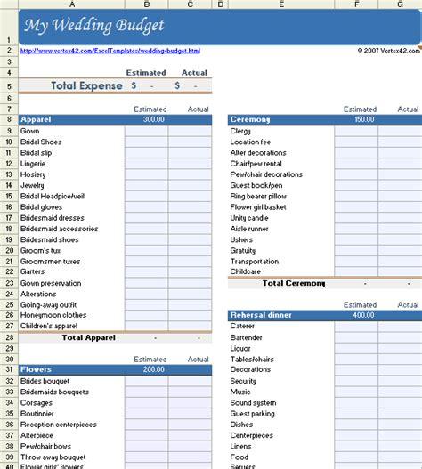 wedding budget worksheet printable  easy