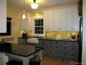 Dark Bottom Cabinets White Upper Cabinets by Two Tone Galley Kitchen Traditional Kitchen
