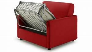 Canapé Original Pas Cher : fauteuil lit pas cher tissu rouge fauteuil convertible ~ Teatrodelosmanantiales.com Idées de Décoration