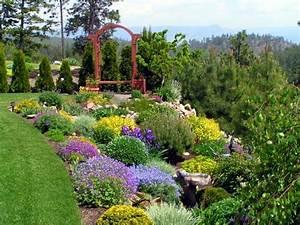 Garden Landscaping - This flower garden is landscaped wi