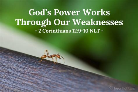 gods power works   weaknesses  corinthians