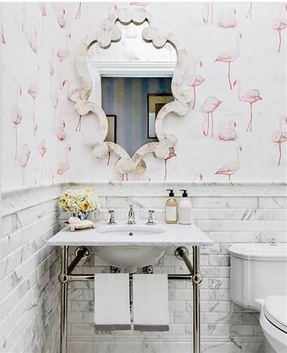 Flamingo Bathroom Powder Pink Instagram Bathrooms Flamingos