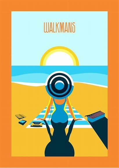 Travel Retro Posters Walkman Bring Walkmans Nostalgic