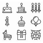 Icons Birthday Party Cake Vector Packs