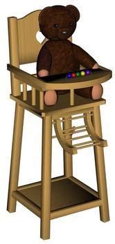 chaise haute poupée chaise haute pour poupée 3d model sharecg