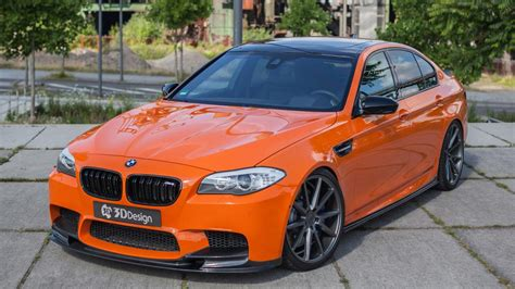 Modified Bmw M5 by A Tuner Has Built A Bright Orange 818bhp Bmw M5 Top Gear