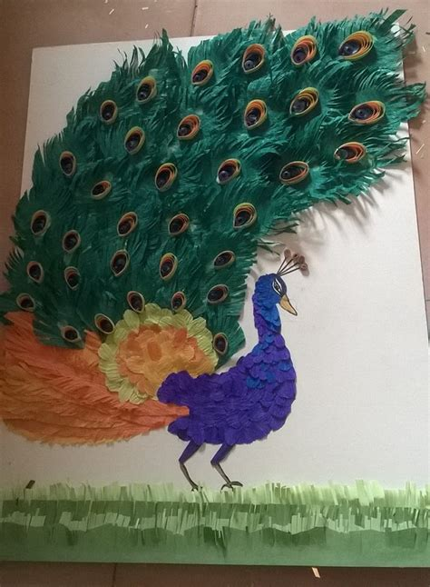 peacock paper craft simple craft ideas