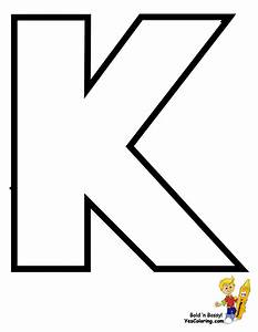 Free coloring pages of large letter k for Large letter k