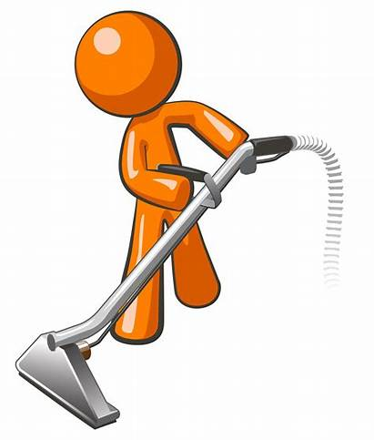 Clipart Janitorial Cleaning Cliparts Carpet Guy Orange
