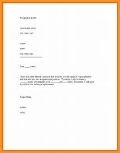 short and simple resignation letter bio letter format