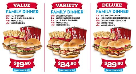 Family Meal Deals Fast Food