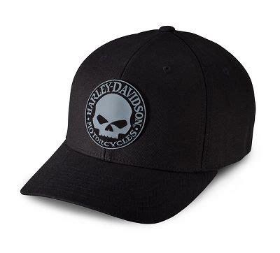 Men's Rubber Skull Patch Stretch Cap
